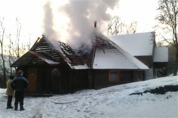 На Свалявщині рятувальники гасили пожежу в кафе