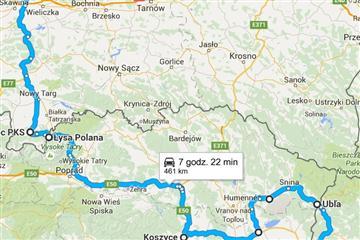 Як доїхати з Закарпаття до Кракова через Словаччину