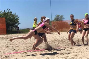 Закарпатки серед лідерів чемпіонату України з пляжного гандболу
