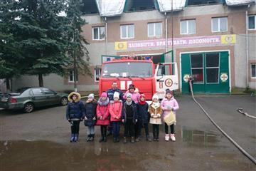 У Тячеві до рятувальників завітали маленькі гості (Фото)