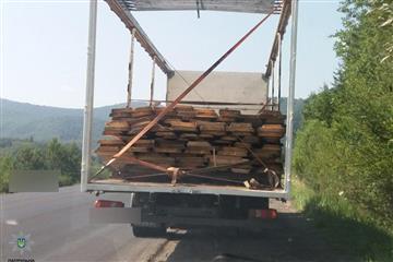 """На Воловеччині виявили вантажівку із """"лівою"""" деревиною"""