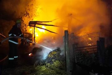 На Рахівщині сталася пожежа