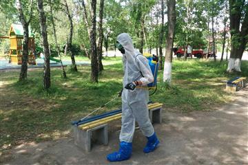 На Виноградівщині рятувальники продезінфікували громадські місця